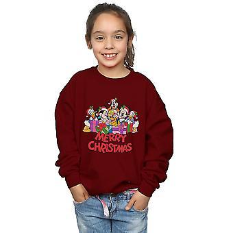 Disney Girls Mickey Mouse And Friends Christmas Sweatshirt