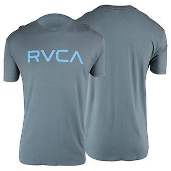 RVCA Mens Big RVCA Mens T-Shirt - Slate Gray/Aqua