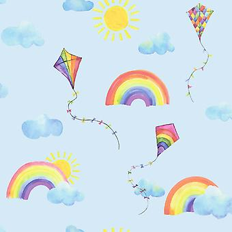 Over the Rainbow Flying Kites Wallpaper Holden