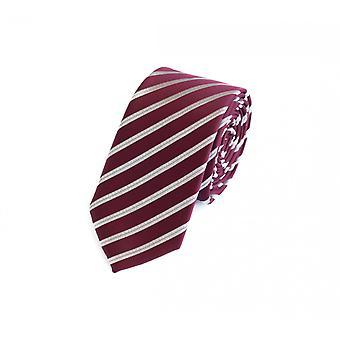 Zawiązać krawat krawat krawat 6cm wino czerwony czerwony Fabio Farini biały paski