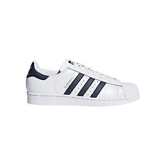 Adidas - Scarpe - Sneakers - CM8082_Superstar - Unisex - bianco,blu scuro - 5.0