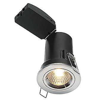 Saxby Lighting Shieldplus Mv Fire Rated 1 Light Recessed Downlight Chrome Plate 50674