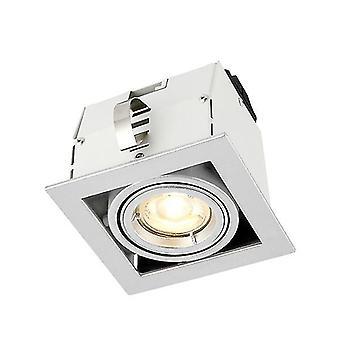 Saxby Lighting Garrix Single Recessed Light Matt White, Silver 78535