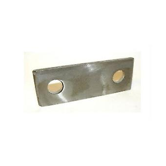 Backing Plate For M6 U-bolt 77 Mm Hole Centres Bzp Mild Steel 8 Mm Hole 40 * 3 * 101 Mm