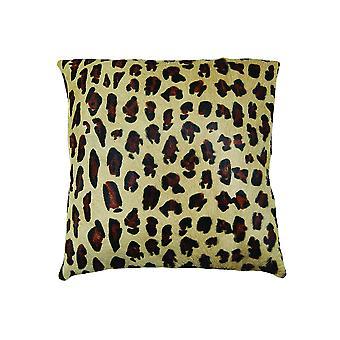 "18"" x 18"" x 5"" Striking Leopard Torino Kobe Cowhide - Pillow"