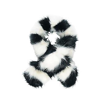 Intrigue Womens/dames racoon Stripe Faux Fur sjaal