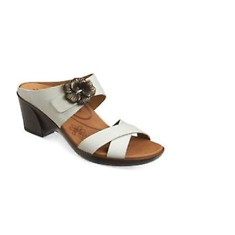 Aetrex Womens Staci Leather Open Toe Casual Platform Sandals