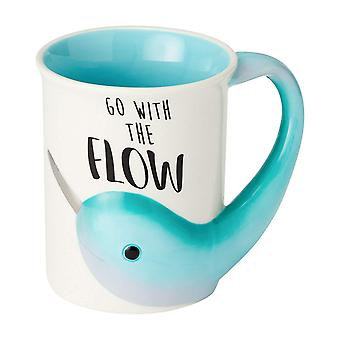 Mug - Enesco - Narwhal Flow Sculpted Coffee Cup16oz New 6002680