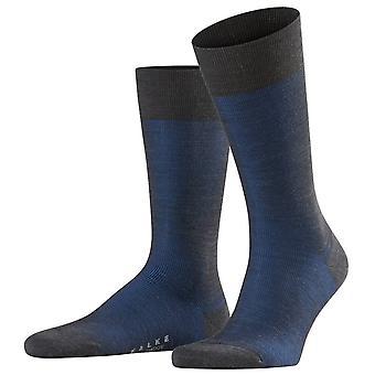 Falke fine Shadow uld sokker-rock/lime lyseblå