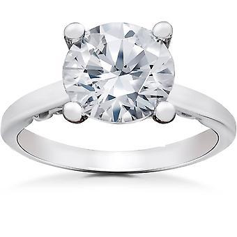 2 ct Lab criado Eco Friendly Diamond Gabriella Engagement Ring 14k White Gold