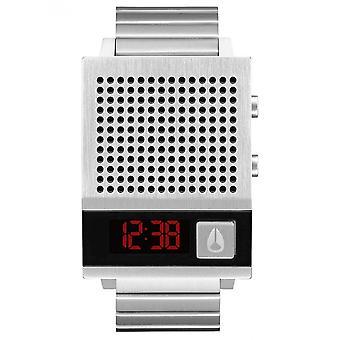 Nixon Watch A1266-000-00-DORK demasiado retangular aço digital homens/mulheres