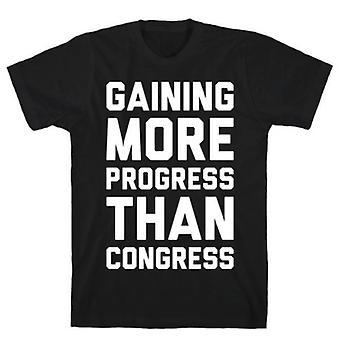 Gaining more progress than congress t-shirt