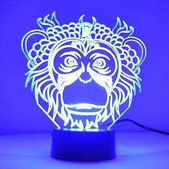 Monkey Face Colour Zmiana światła LED Mini Akrylowa