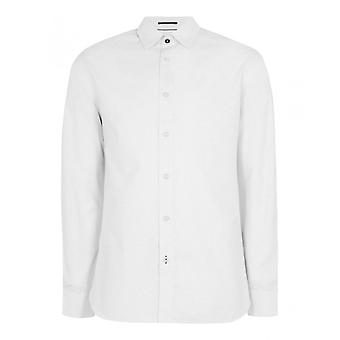 Ted Baker Men's White Dobby Geo Print Shirt