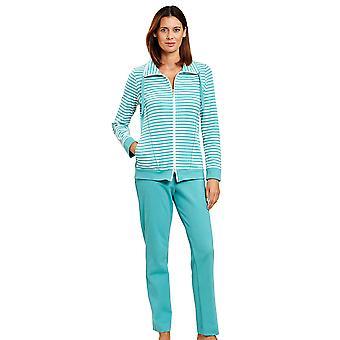 Rosch 1203001-15641 Donne's Smart Casual White Spearmint Striped Loungewear Set
