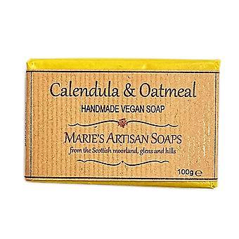 Marie's Artisan Soaps Handmade Vegan Soap 100g - Calendula & Oatmeal