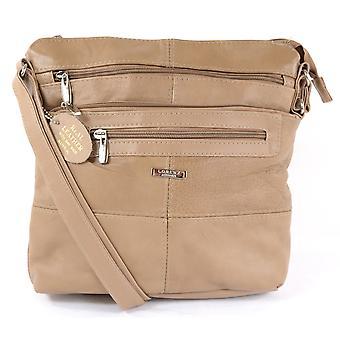 Ladies Cowhide Leather Shoulder Bag (Black)