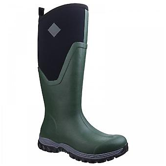 Muck Boots Ladies Arctic Sport Ii Green Fleece Lined Tall Wellington Boots