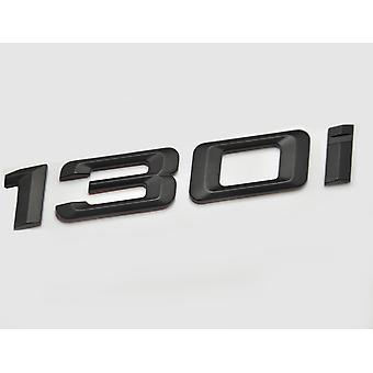Matt Black BMW 130i Car Badge Emblem Model Numbers Letters For 1 Series E81 E82 E87 E88 F20 F21 F52 F40