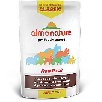 Almo nature Cat Classic Raw Pack Muslo de Pollo (Cats , Cat Food , Wet Food)