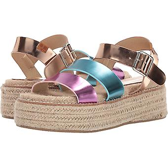 Coolway Womens Ranma Leather Open Toe Casual Espadrille Sandals