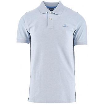 GANT GANT Eisblau Melange Polo Shirt