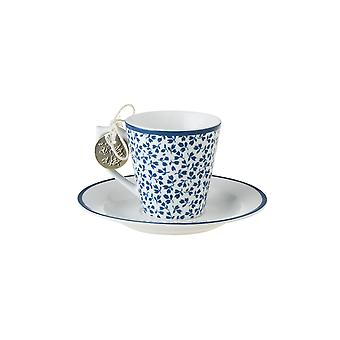 Laura Ashley Espresso Cup and Saucer, Floris