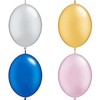 Latex ballonnen Qualatex Quick Link Plain (verpakking van 50)