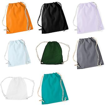 Westford Mill Cotton Gymsac Bag - 12 Litres (Pack of 2)