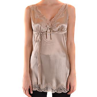 Twin-set Ezbc060260 Women's Beige Silk Top