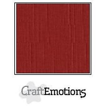 CraftEmotions linen cardboard 10 Sh darkred 30,0x30,0cm / LC-39