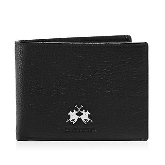 La Martina Tumbled Leather Ambrosio Coin Wallet