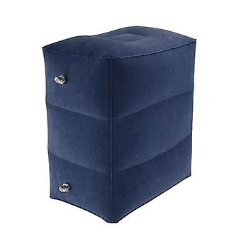 Inflatable footstool in PVC, dark blue
