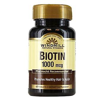 Windmill biotin, 1000 mcg, tablets, 60 ea