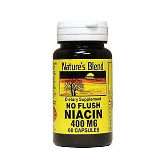 Nature's blend niacin 400 mg, no flush, capsules, 60 ea