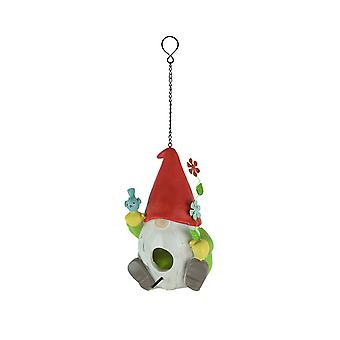 Adorable scandinave Nisse Garden Gnome Hanging Birdhouse