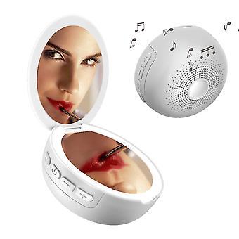 Make-up spejl med LED- og Bluetooth-højttalere