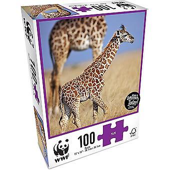 WWF 100 Piece Puzzle - Bébé girafe