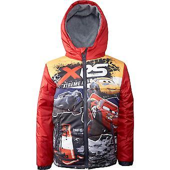 Мальчики HS1354 Disney Автомобили Зимняя куртка с капюшоном