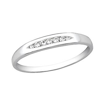 Band - 925 Sterling Silver Jewelled ringar - W26323x
