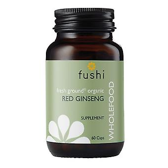 Fushi Wellbeing Organic Red Ginseng Root 333mg Veg Caps 60 (F0020771)