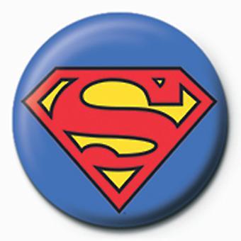 Superman Logo 25mm Pin Button Badge