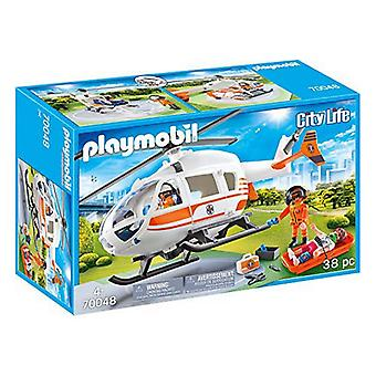 Playset City Life Rescue Helicopter Playmobil 70048 (38 pc's)