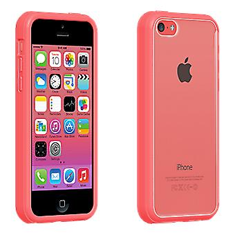 Verizon Clear Shell with Pink Edge Case for iPhone 5c -Clear/Pink