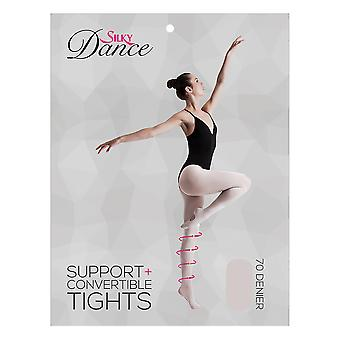 Silky Childrens Girls Convertible Dance Support Tights (1 Pair)