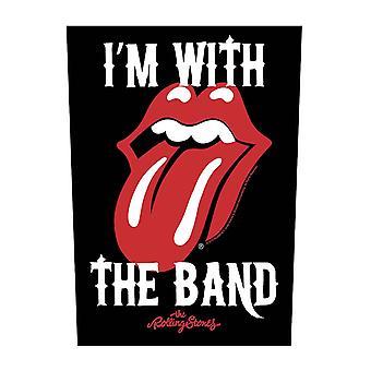The Rolling Stones Back Patch Im con la banda ufficiale nero cucito su 36cm x 29cm