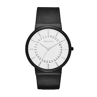 Skagen SKW6243 Ancher White Dial Leather Men's Watch