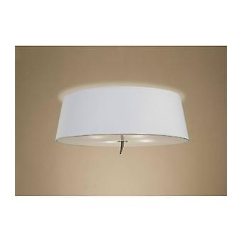 Ceiling Light Ninette 4 Bulbs E27, Antique Brass With Ivory White Lampshade