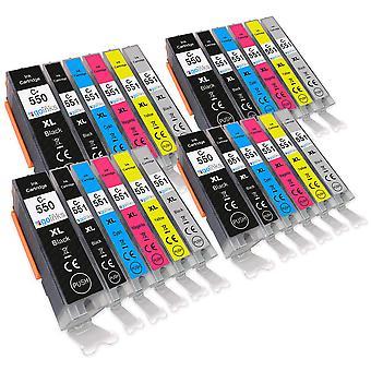 4 Satz von 6 Tintenpatronen, um Canon PGI-550 & CLI-551 kompatibel/nicht OEM von Go Tinten (24 Tinten) zu ersetzen