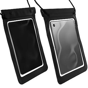 Protective Protective Cover Up to 8'' Waterproof Protection Neck Strap Black